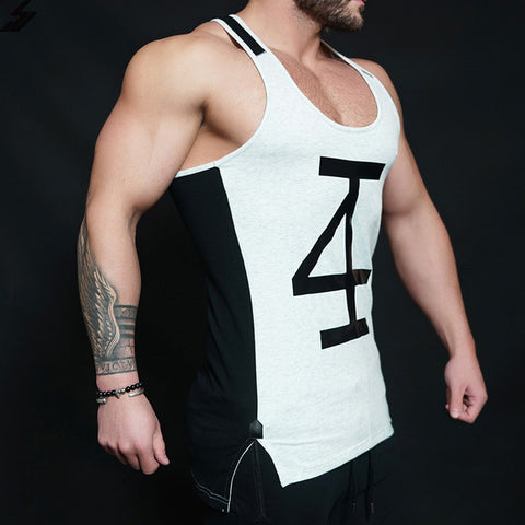 2017 Fitness Men gyms Tank Top
