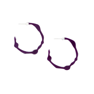 Small Pure Violet Hoops - Denisa Piatti Jewellery