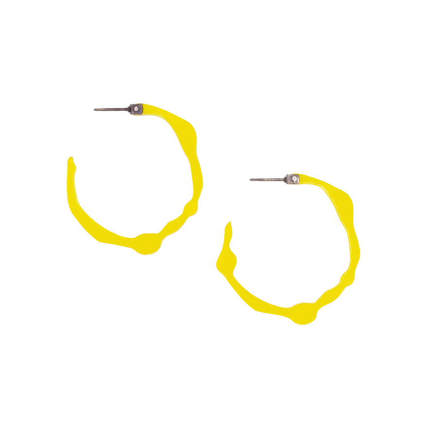 Small Sunrise Yellow Hoops - Denisa Piatti Jewellery