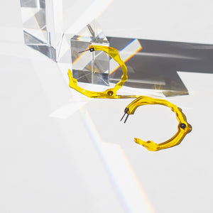 Large Sunrise Yellow Hoops - Denisa Piatti Jewellery