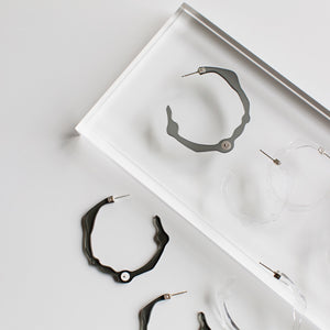 Large Twilight Grey Hoops - Denisa Piatti Jewellery