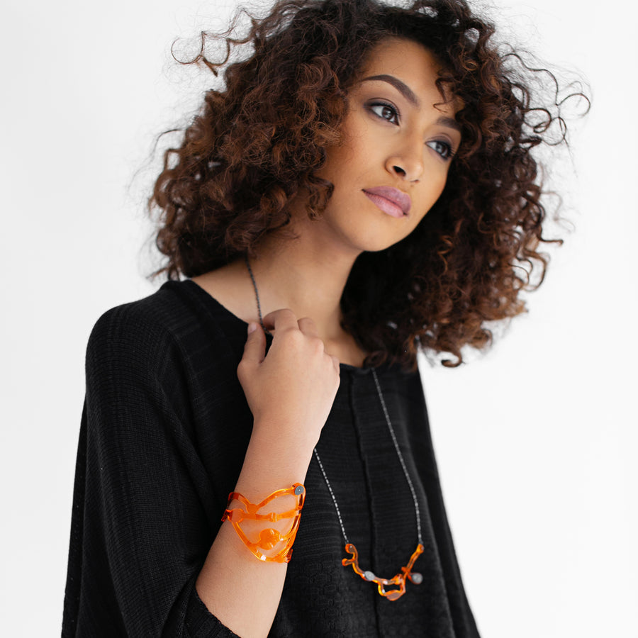 Handmade-to-Order Organic Seaweed Necklace - Denisa Piatti Jewellery