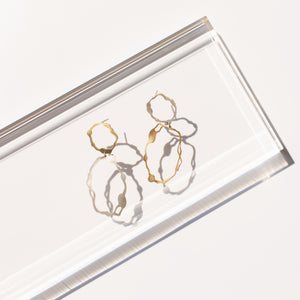 Dangle and Oval Komu Earrings