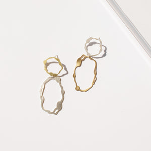 Dangle and Oval Komu Earrings - Denisa Piatti Jewellery