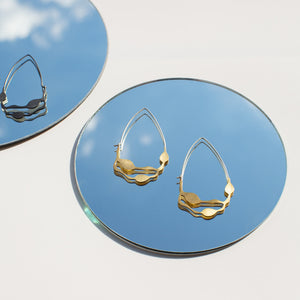 Wakame Earrings in Brass - Denisa Piatti Jewellery