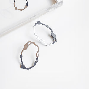 Oval Komu Earrings - Denisa Piatti Jewellery