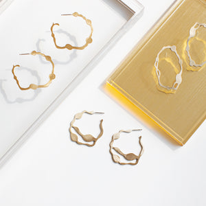 Arame Hoops in Brass - Denisa Piatti Jewellery