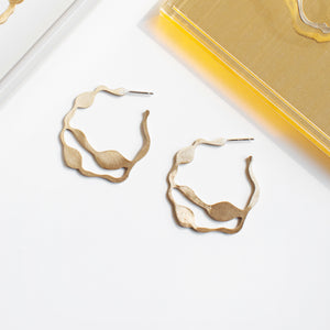 Arame Hoops in Brass
