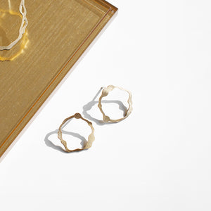 Petite Komu Earrings in Brass