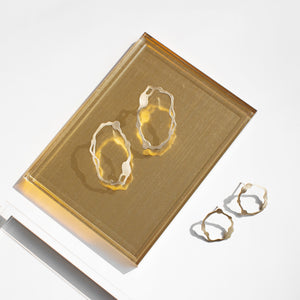 Oval Komu Earrings in Brass