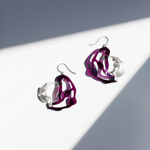 Seaweed Pendant Earrings - Denisa Piatti Jewellery