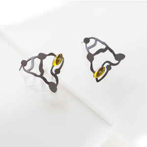 Sculpture Seaweed Earrings - Denisa Piatti Jewellery