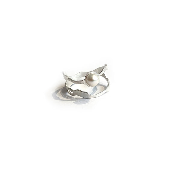 Pearl Seaweed Double Tier Ring - Denisa Piatti Jewellery