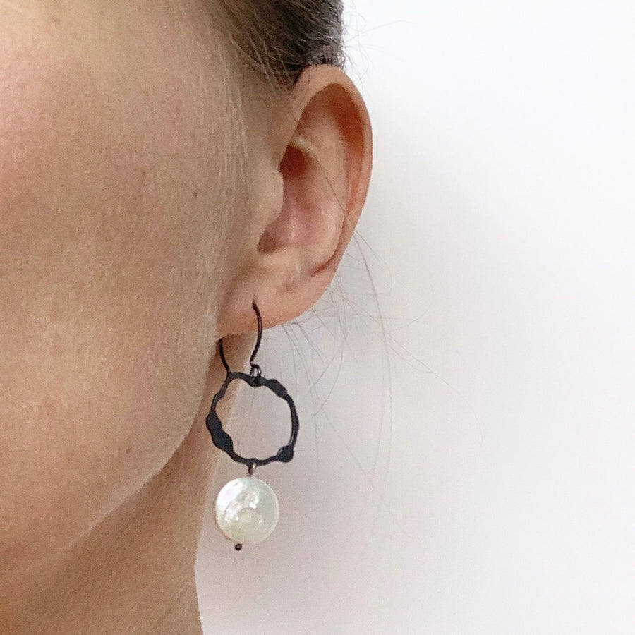 Handmade-To-Order Petite Komu Dangle Earrings - Denisa Piatti Jewellery