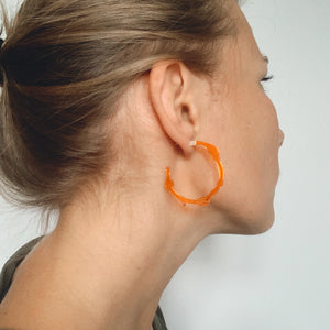 Small Fiery Orange Hoops - Denisa Piatti Jewellery