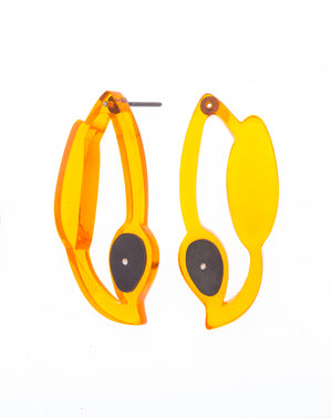Fiery Seaweed Drop Earrings - Denisa Piatti Jewellery