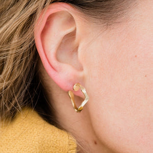 Dulse Hoops, Gold Vermeil - Denisa Piatti Jewellery