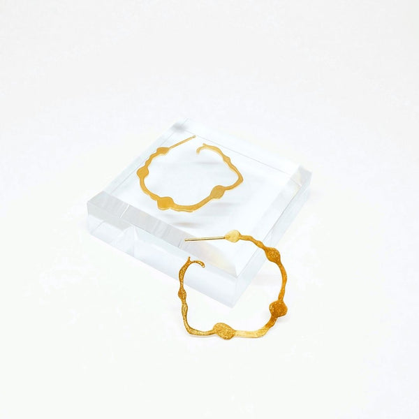 Nori Hoops, Gold Vermeil - Denisa Piatti Jewellery