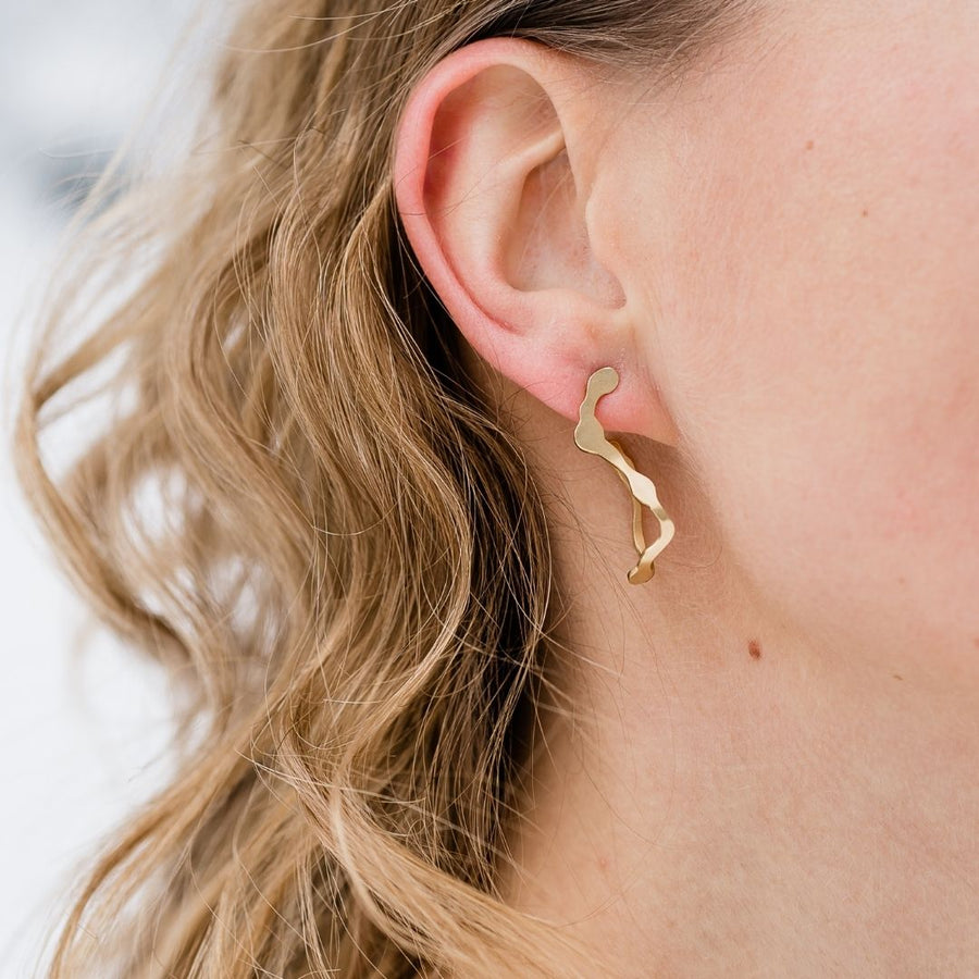 Dulse Earrings, Gold Vermeil - Denisa Piatti Jewellery