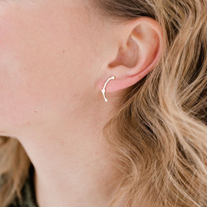 Brushed Komu Climbers - Denisa Piatti Jewellery