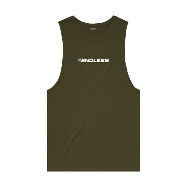 BJJ League Logo Tank - Army
