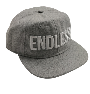 Logo Wool Six Panel Cap - Grey