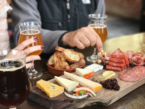 cheese and beer tasting