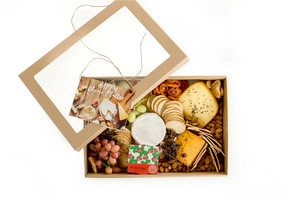 Cheese platter box ready to eat full of Australian artisan products