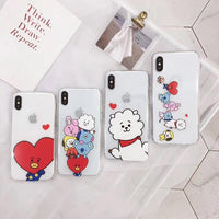 BT21 Soft Silicone iPhone Case - Kpop Omo