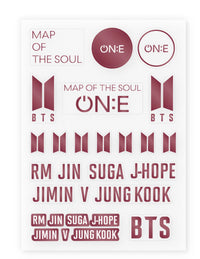 Official BTS Map of the Soul ON:E MD - Lightstick Deco Sticker - Kpop Omo