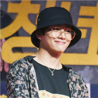 Kpop Style Bucket Fisherman Hat with Pin - Kpop Omo