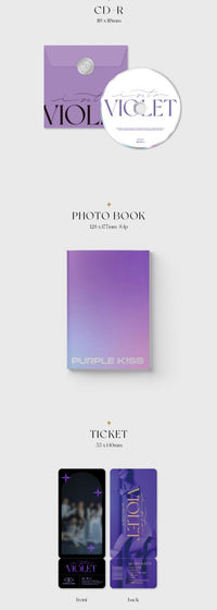 PURPLE KISS 1st Mini Album - Into Violet - Kpop Omo