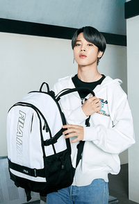 Official BTS x Fila 2021 NEW SEMESTER - Jimin Version Loose Fit Circle Point Stitch Sweatshirt - Kpop Omo
