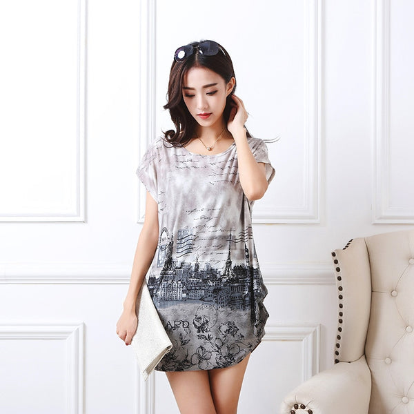 Casual Print  Fashion Short Sleeve Tops