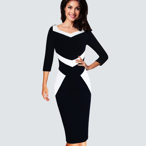 High Quality Patchwork Bodycon Dress