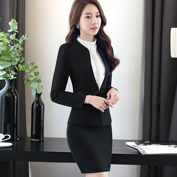 Fashion Elegant Simple and Slim Suit Set