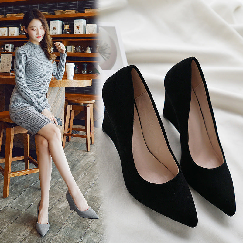 Casual Soft Square Heel Shoes XWD7215