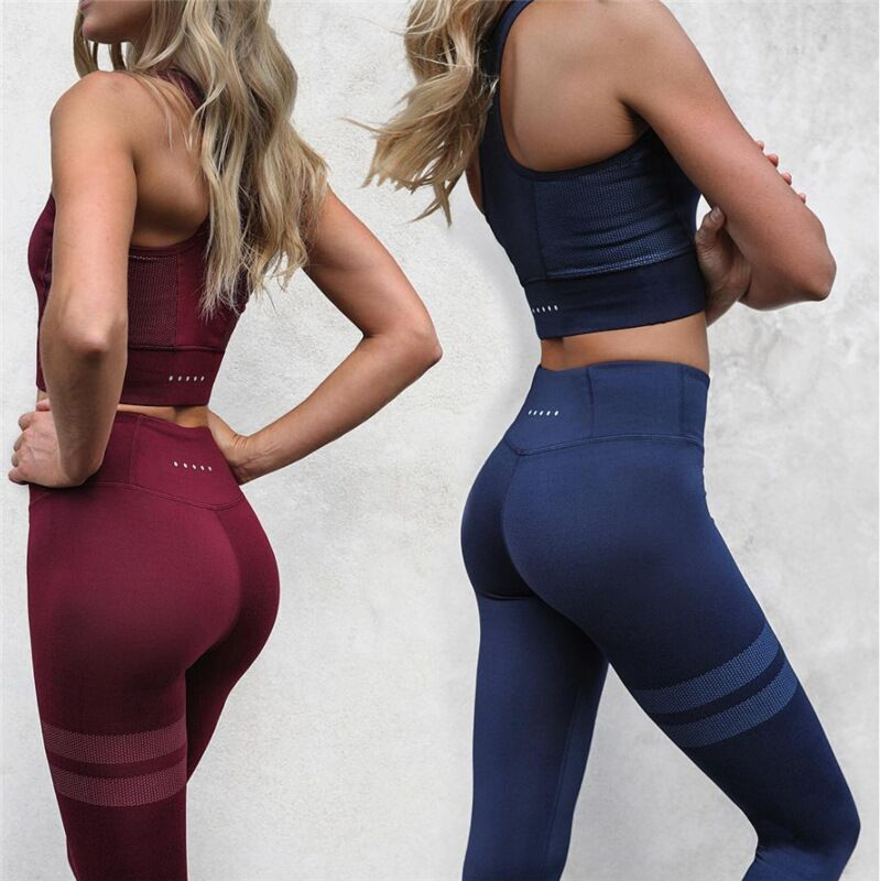 Solid Color Trendy Leggings Set
