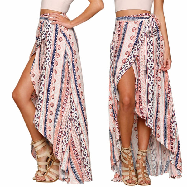 Bohemian Chiffon Long Skirt