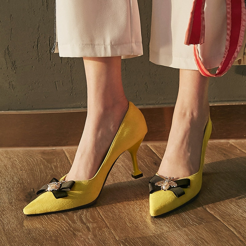 Pointed Toe Luxury Pumps