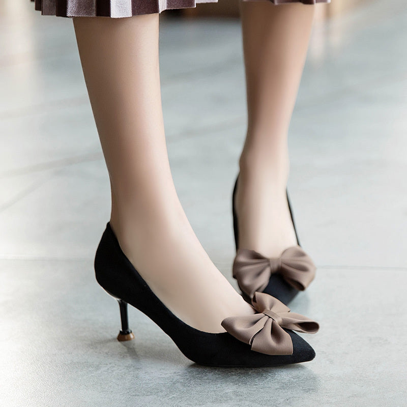 Butterfly-Knot Solid Pumps  WXG613