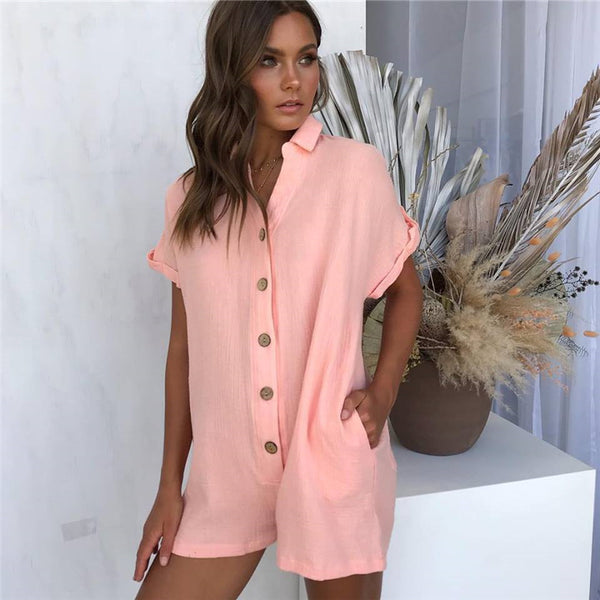 Short Sleeve Fashion Jumpsuit