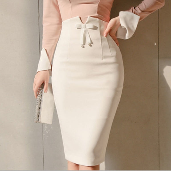 High Waist Bodycon Midi Skirt