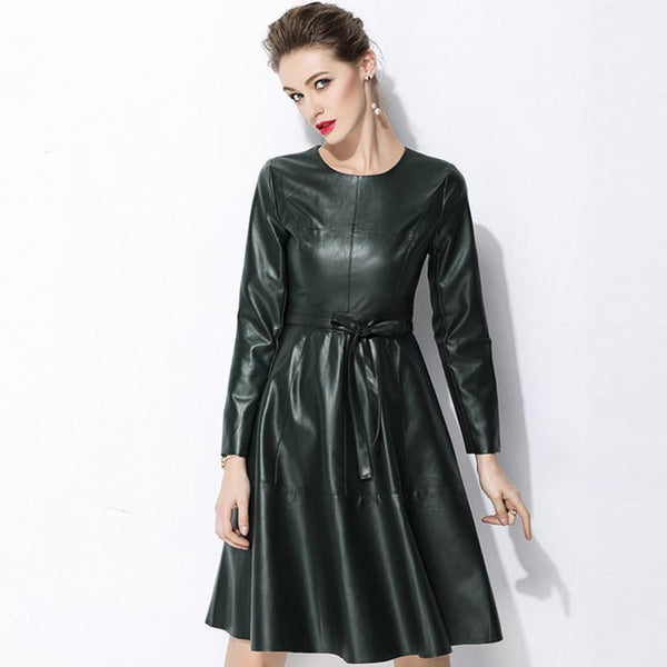 High Quality Leather Dress