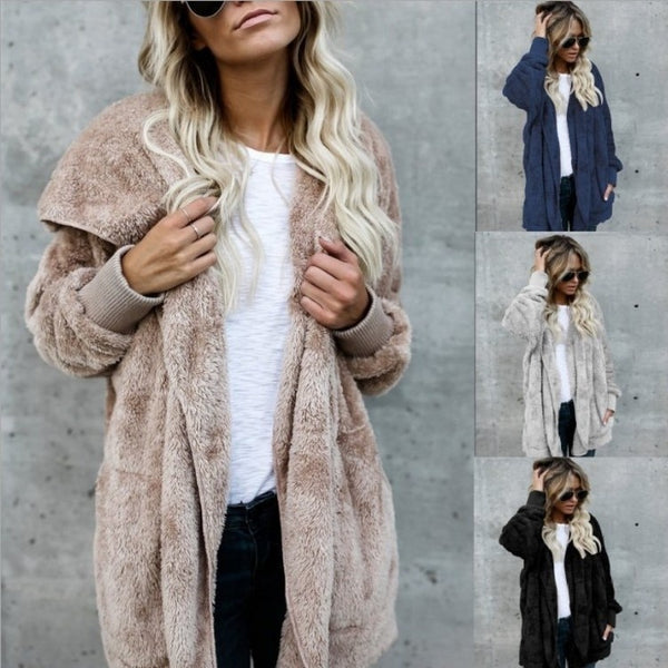 Fashion Hooded Cardigan Coat
