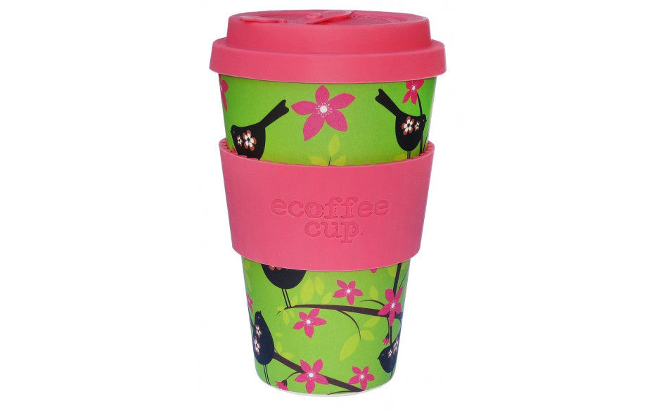 Ecoffee Reusable Bamboo Fibre Travel Cup - Widdlebirdy - My Happy Camper