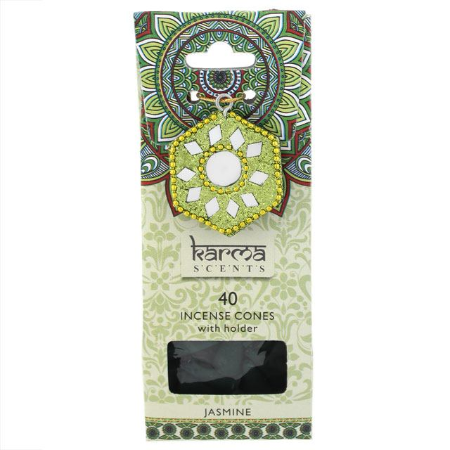 Karma scents jasmine incense cones gift set