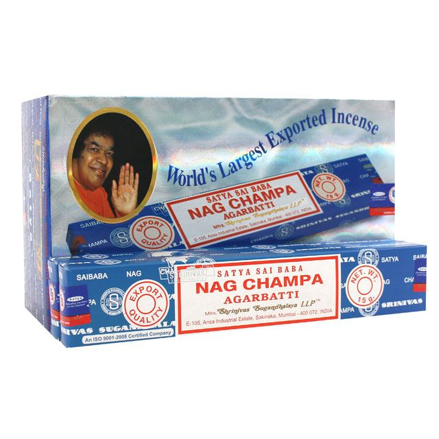 Pack of 12 Nag Champa incense sticks