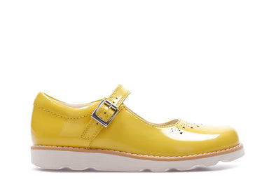 Clarks Crown Jump K Yellow Patent