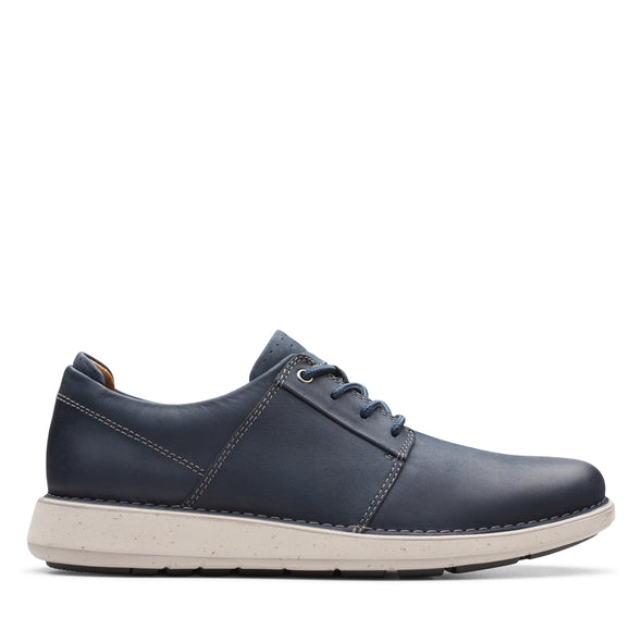 Clarks Un LarvikLace2 Navy Leather